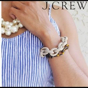 J.Crew Pave and Tortoise Double Link Bracelet NWT